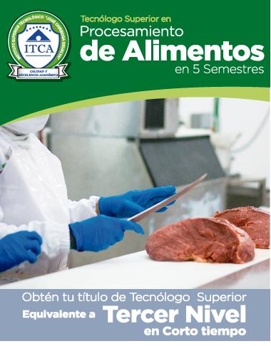 Tecnólogo Superior en Procesamiento de Alimentos